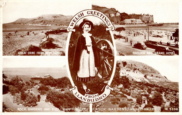 Welsh greetings multiview from Llandudno.