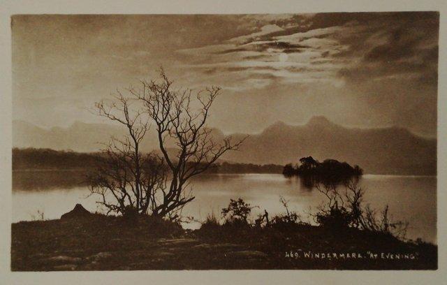Old postcard of Windmere, Cumbria