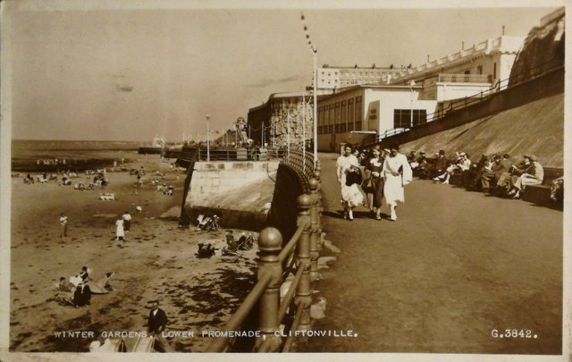 Vintage postcard of The Winter Gardens, Lower Promenade, Cliftonville, Kent